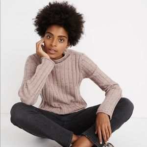 NWOT Madewell Donegal Evercrest Turtleneck Sweater